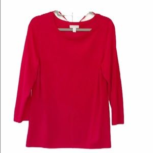 Charter Club | 3/4 length sleeve scoop neck top